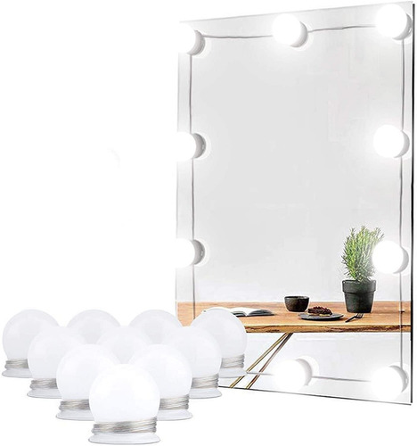 Luz De Espejo Led, Luz De Espejo De Maquillaje, Luz 10led