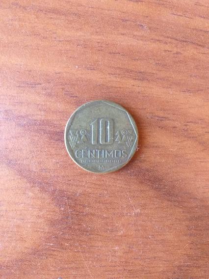 Moneda De Peru 10 Centimos