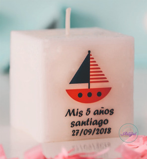 15 Souvenirs Infantiles Cumpleaños Original Velas 4 X 4