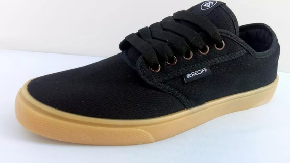 Zapatillas Clasica Skate Recife Black Caramel Gumm