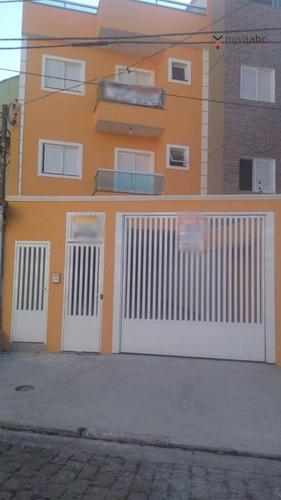 Apartamento Com 2 Dormitórios À Venda, 57 M² Por R$ 345.000 - Vila Pires - Santo André/sp - Ap1205