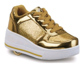 Tenis Patines Ferrato 2 En 1 Color Oro 2645568