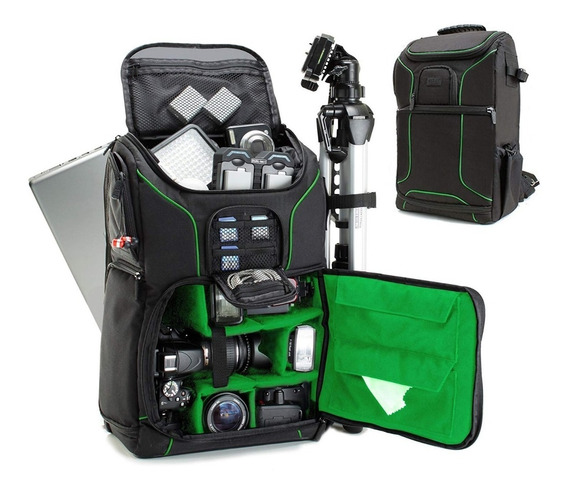 Mochila Camara Tripode Reflex Digital Laptop Usa Gear Estuch