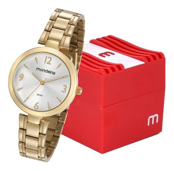 Relógio Mondaine Feminino Analógico Dourado 53609lpmvde1