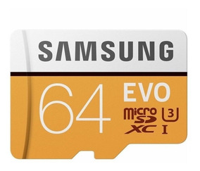 Cartão Microsd 64gb Evo Samsung Classe 10 100mb/s Uhs-3