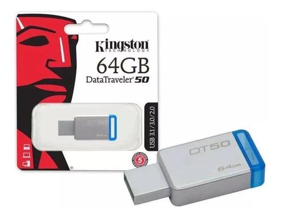 Pendrive Kingston Dt50 De 64gb Usb 3.1/3.0/2.0 !