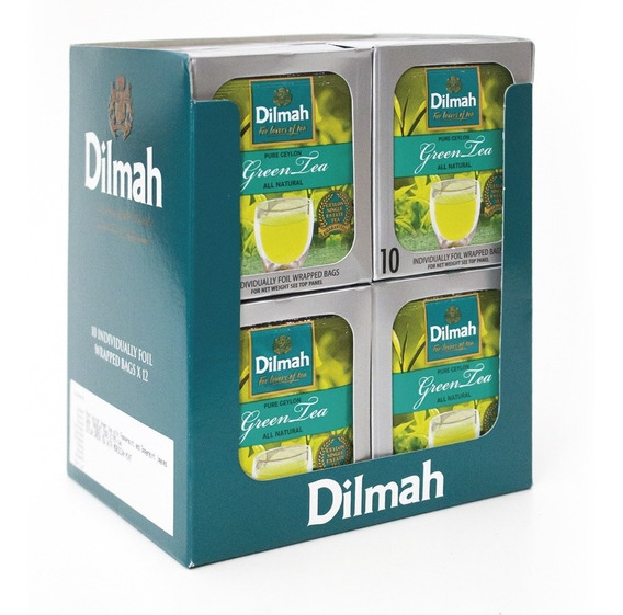 Té Verde Dilmah Natural Ceylon Display 12 Unidades.