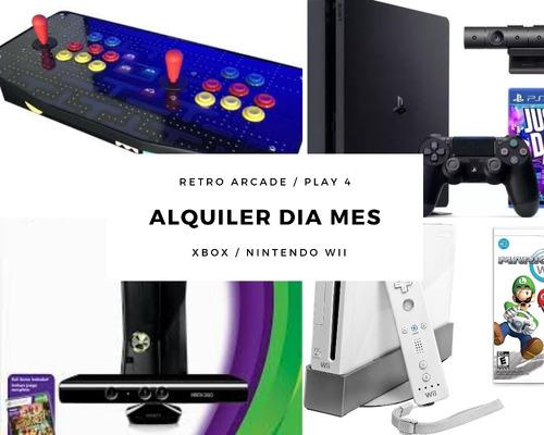 Imagen 1 de 6 de Alquiler De Play 4 Wii Xbox Arcade Retro