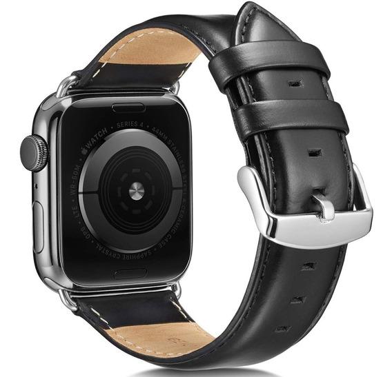 Extensible Piel Pemium Apple Watch 5/4/3/2/1 Negro