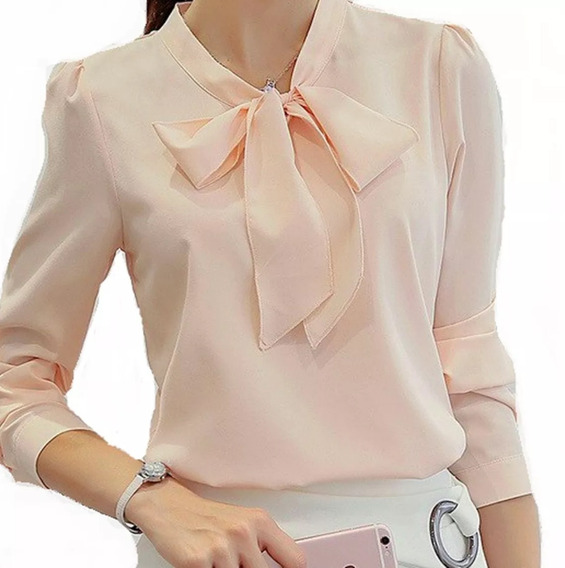 Blusa Camisa Moda Feminina Social Em Cetim Foto Real Luxo