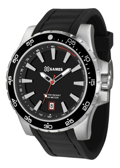 Relógio X-games Masculino Xmsp1015 P1px Preto Aço
