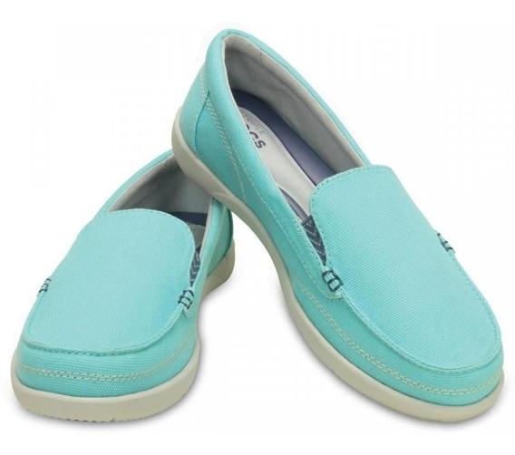 Tênis Crocs Walu Ii Canvas Loafer Ice Blue