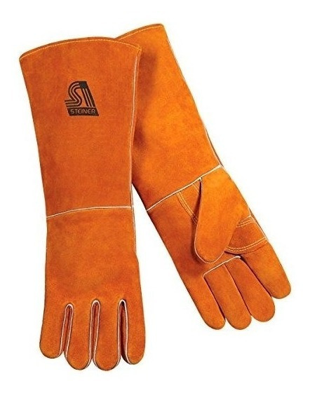 Guantes De Soldadura Steiner 21923-l, Color Naranja Quemado
