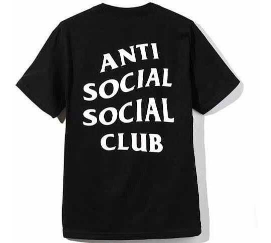 Playera Anti Social Social Club - Logo Tee 2 Small Black