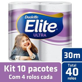 Kit Papel Higiênico Elite Folha Dupla 10 Pacotes - 40 Rolos