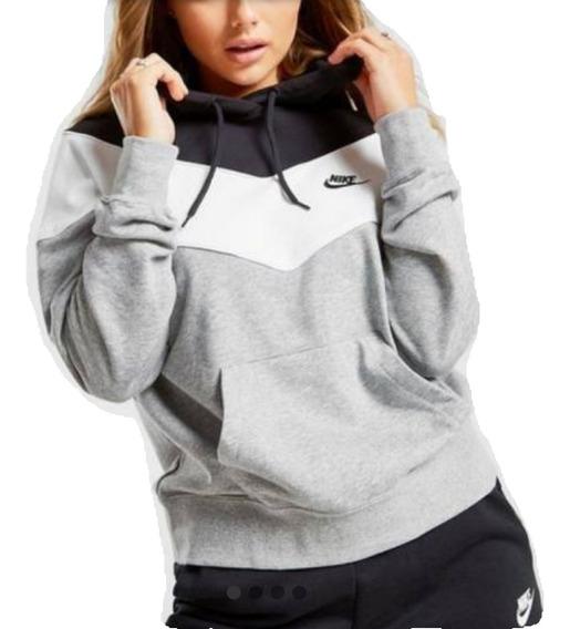 Sueteres Con Capucha Nike Dama 3 Colores Todas Las Tallas