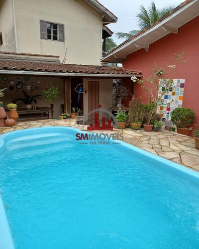 Imagem 1 de 20 de Casa Isolada Com Piscina No Canto Do Forte Em Praia Grande - Ca00330 - 69888404