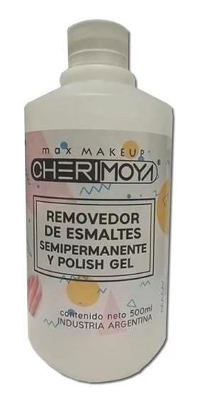 Removedor De Esmalte Semipermanente Cherimoya Uñas Gel 500ml