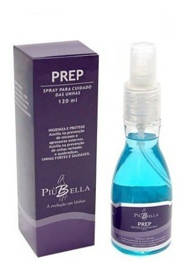 Prep Piu Bella Spray Para Cuidados Da Unha - 120 Ml
