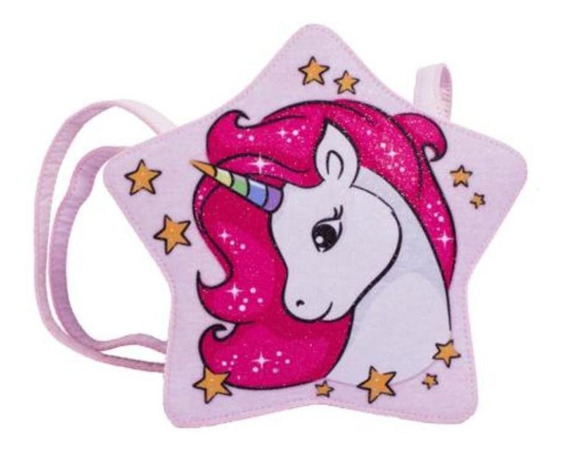 Bolsa Infantil Princesa Pink Bolsa Estrela Glitter