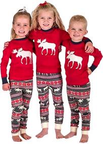 48fbfac828 Navidad Familia Niño Lindo Pijama Conjuntos Ciervo Nieve Im