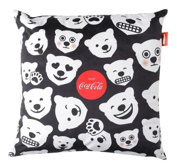 Capa De Almofada Coca-cola Polar Bears Fd 45x45 - Urban