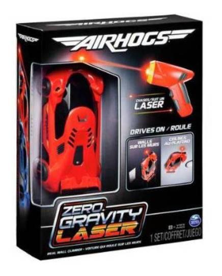 Carrinho Laser Air Hogs Zero Gravity Laser Vermelho Parede