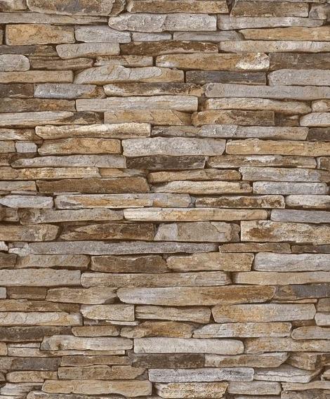 Papel Tapiz Profesional 31121 Laja Textura Ladrillos 3d