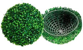 Topiario 46cm Esfera Follaje Sintético Decoración