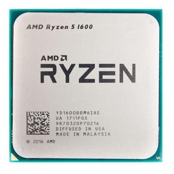 Processador gamer AMD Ryzen 5 1600 YD1600BBAEBOX de 6 núcleos e 3.2GHz de frequência