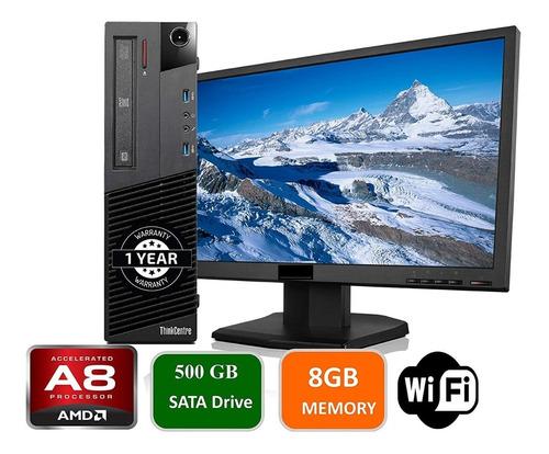 Imagen 1 de 6 de Computadora Lenovo Amd A8 6500b 8gb 120gb Ssd +monitor Combo