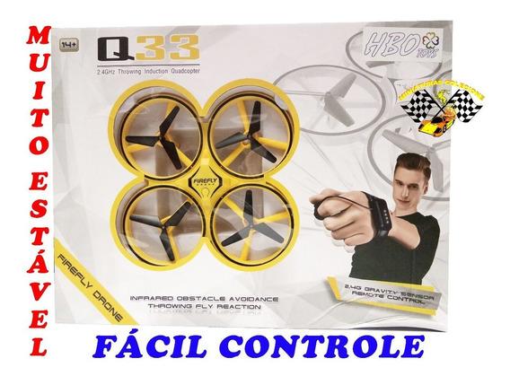 Drone Quadricoptero Grd. Com Leds Loop 360 Controle Remoto