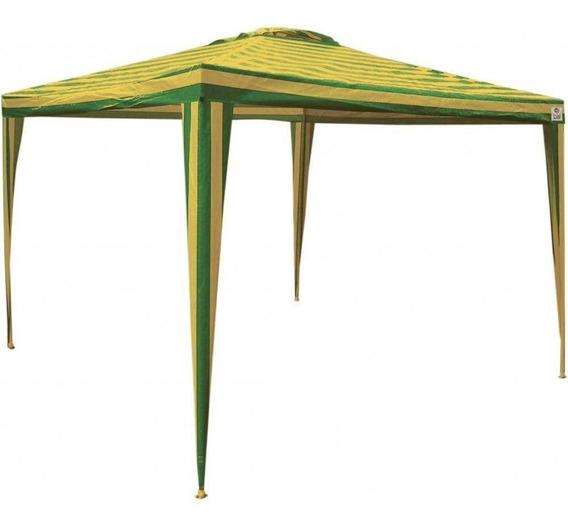 Tenda Gazebo 3,00 X 3,00 Verde E Amarelo Bel Lazer
