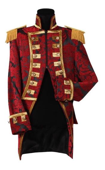 Saco De Vestir Tipo Levita Gotico Novios De Brocato A Medida