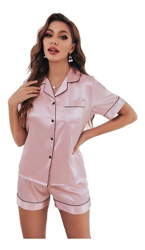 Imagen 1 de 7 de Miveni Pijamas Para Mujer De Seda Cómodo Ropa Para Dormir