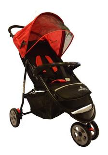 Carrinho Bebe Passeio 3 Rodas Speed Color Baby Vermelho