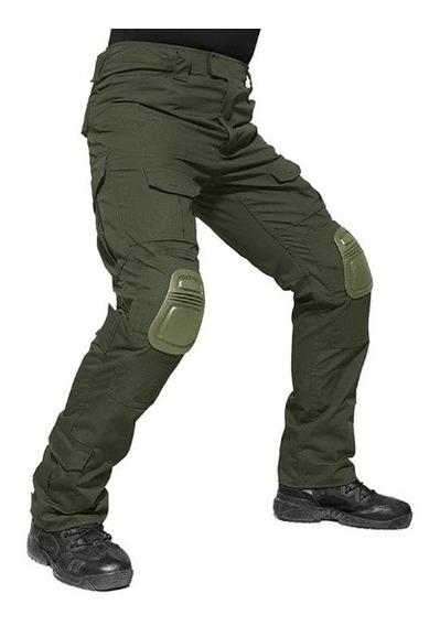 Pantalon Táctico Rip Stop Con Teflón Incluye Rodilleras
