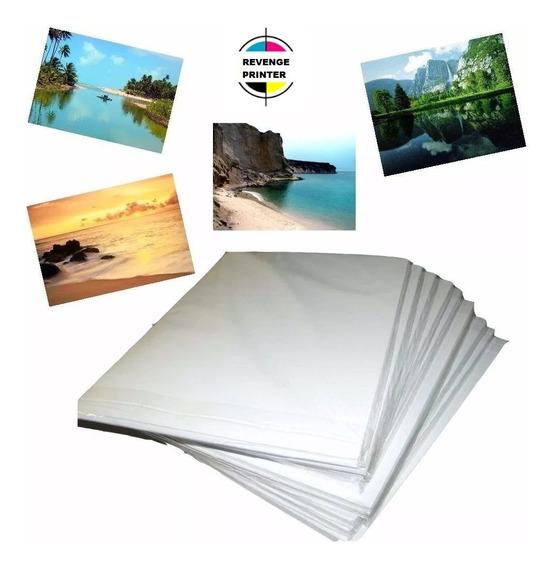 Papel Foto 230g Glossy A4 À Prova D´água 500 Folhas Brilho