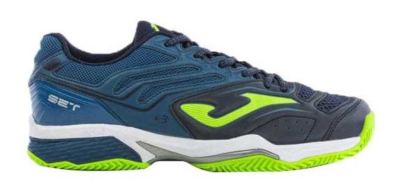 Zapatillas Joma Set V2 Clay Hombre Tenis-padel Verde Azul