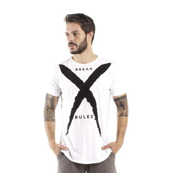 Camiseta Longline Curve Break Branco
