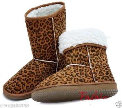 Bota Forrada Leopardo Estilo Ugg - Pront Ent - Frete Grátis
