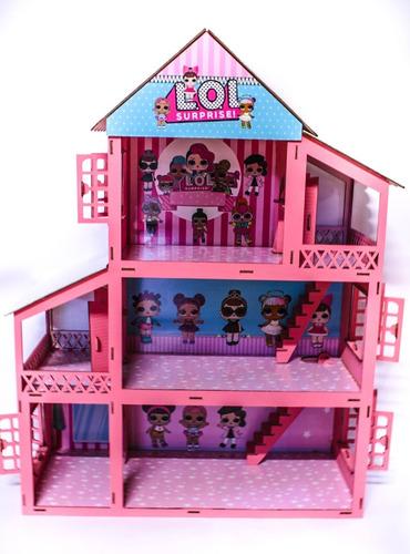 Casa Casinha Boneca +41pçs(móveis+parque+brindes) Adesivada