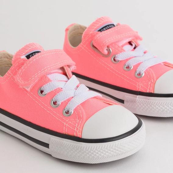 Tenis Infantil Converse All Star Rosa Fluor/pto/bco Ck081500