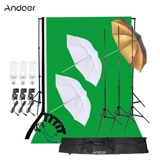 Andoer Photo Studio Kit De Iluminación De 3pcs 45w Luz De La