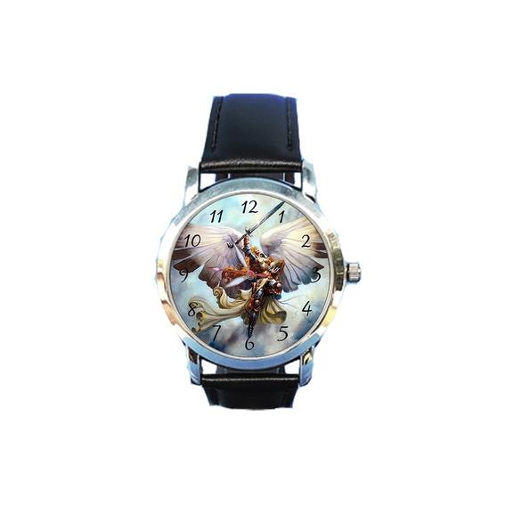 Relógio São Miguel Arcanjo Igreja Católica Jesus Unissex