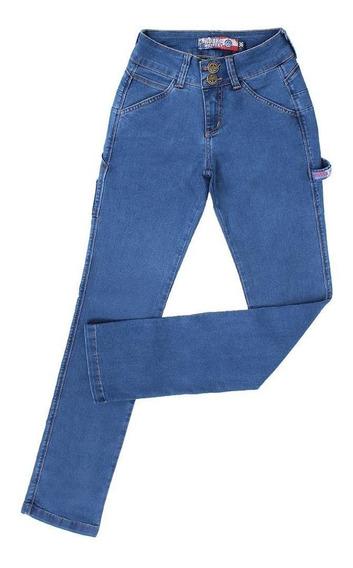 Calça Carpinteira Feminina Jeans Claro Rodeo Western 23353