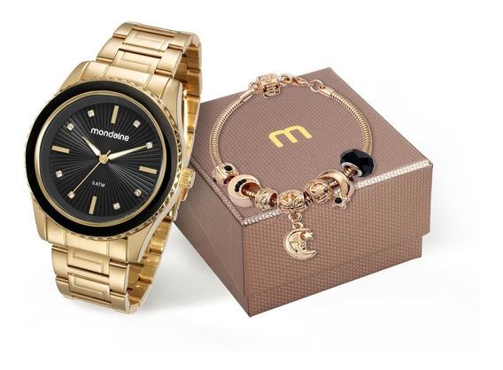 Kit Relógio Mondaine Feminino 76568lpmvde5k