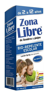 Zona Libre Bio Repelente Escolar Loción Spray X 60ml