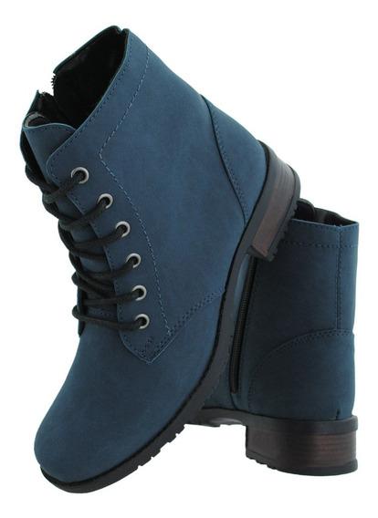 Bota Feminina Fosca Cr Shoes Cano Baixo Com Ziper 1600
