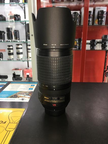 Lente Nikon 70 300mm F 4.5 5.6g Vr Usada 12x Sem Juros